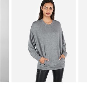 Express oversized crew neck